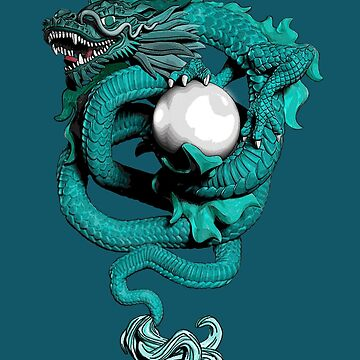 Chinese Dragon With Pearl by Si-aidra