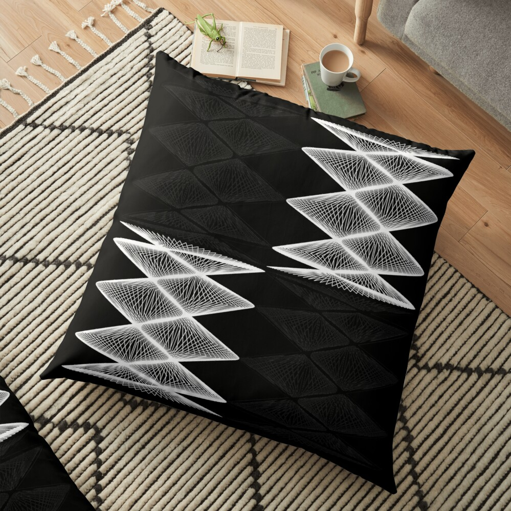 Lissajous XXI Floor Pillow