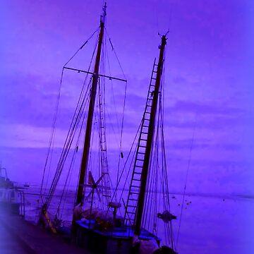 Evening Blue Mist in Topsham by Sita