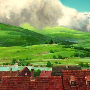 Howls Moving Castle (Studio Ghibli) by pompomcherryy