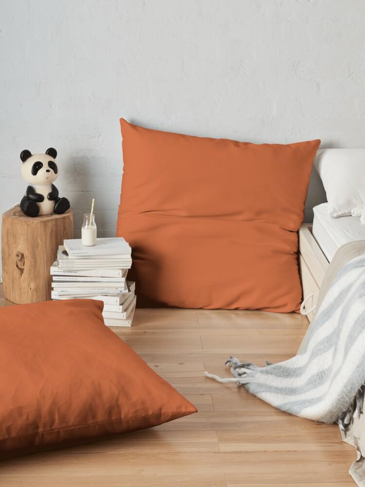 Alternative Ansicht von Gebrannte Orange Bodenkissen