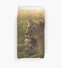 "Lioness and Cub ""Safe Haven"" Duvet Cover"