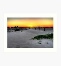 Dusk over Birubi Beach Sand Dunes Art Print