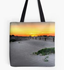 Dusk over Birubi Beach Sand Dunes Tote Bag