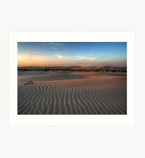 Sunset at Birubi Beach Sand Dunes 1 Art Print