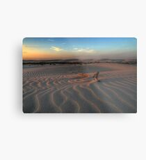 Sunset at Birubi Beach Sand Dunes 3 Metal Print