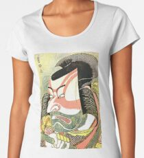 'The Actor Ichikawa Ebizo' by Katsushika Hokusai (Reproduction) Women's Premium T-Shirt