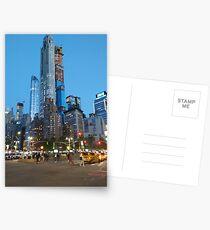 Metropolitan area, Happiness, Building, Skyscraper, New York, Manhattan, Street, Pedestrians, Cars, Towers, morning, trees, subway, station, Spring, flowers, Brooklyn Postcards