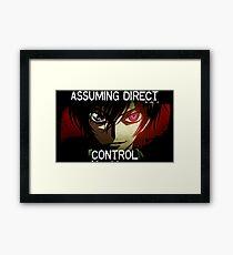 Lelouch using his Geass (Assuming Direct Control) Framed Print