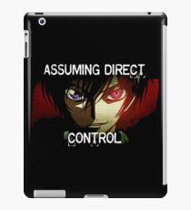 Lelouch using his Geass (Assuming Direct Control) iPad Case/Skin