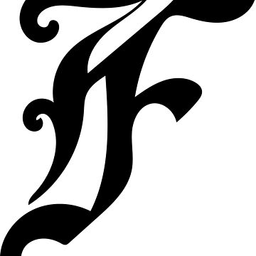 Monogram F - Gothic Script by annbelleproject