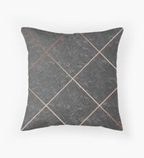 Copper & Concrete 01 Throw Pillow