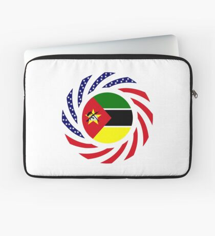 Mozambican American Multinational Patriot Flag Series Laptop Sleeve