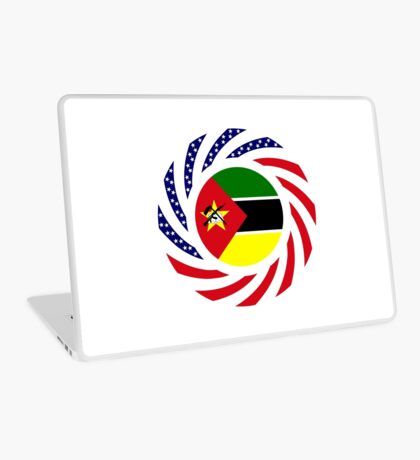 Mozambican American Multinational Patriot Flag Series Laptop Skin