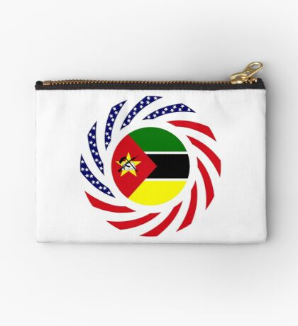 Mozambican American Multinational Patriot Flag Series Zipper Pouch