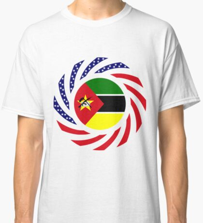 Mozambican American Multinational Patriot Flag Series Classic T-Shirt