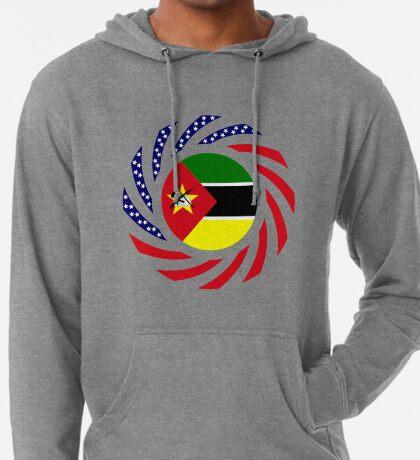 Mozambican American Multinational Patriot Flag Series Lightweight Hoodie