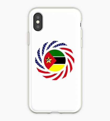 Mozambican American Multinational Patriot Flag Series iPhone Case