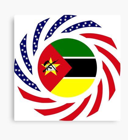 Mozambican American Multinational Patriot Flag Series Canvas Print