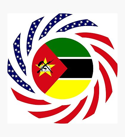 Mozambican American Multinational Patriot Flag Series Photographic Print