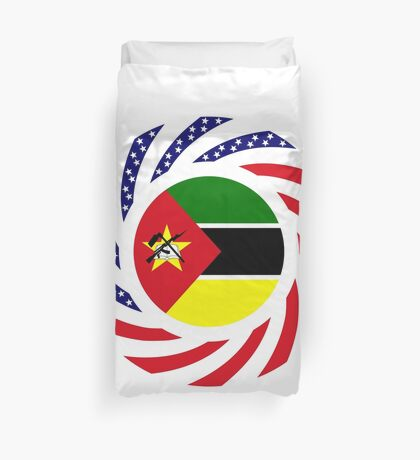 Mozambican American Multinational Patriot Flag Series Duvet Cover
