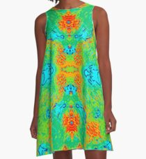 Hibiscus Impressionist A-Line Dress