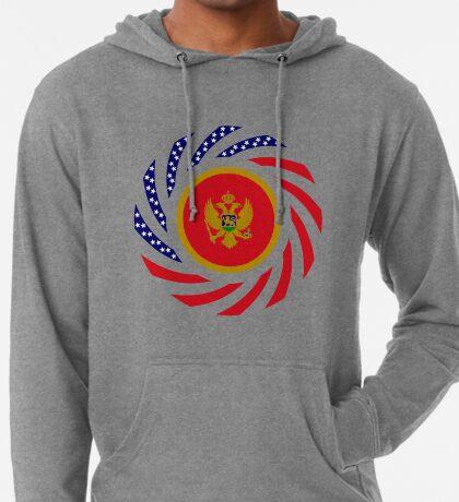 Montenegrin American Multinational Patriot Flag Series Lightweight Hoodie