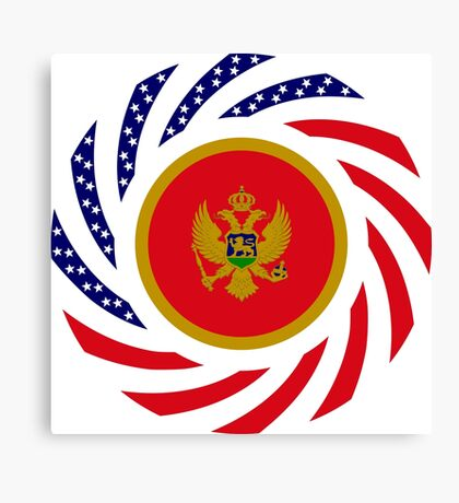 Montenegrin American Multinational Patriot Flag Series Canvas Print