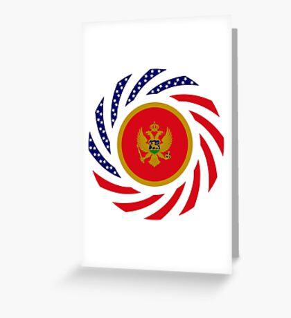 Montenegrin American Multinational Patriot Flag Series Greeting Card