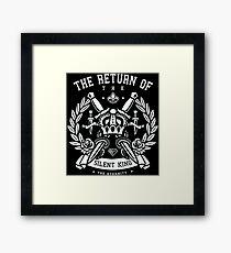 KING CROWN Framed Print