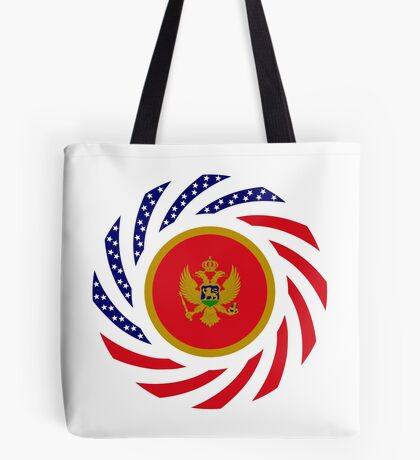 Montenegrin American Multinational Patriot Flag Series Tote Bag