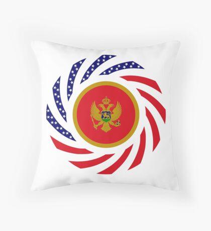 Montenegrin American Multinational Patriot Flag Series Throw Pillow