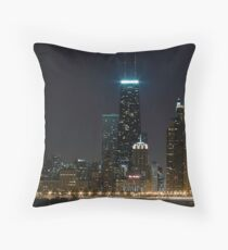 View from North Ave. Beach Throw Pillow