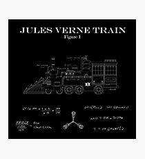 JULES VERNE TRAIN BLUEPRINTS Photographic Print