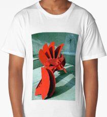 Sculpture in Red Long T-Shirt