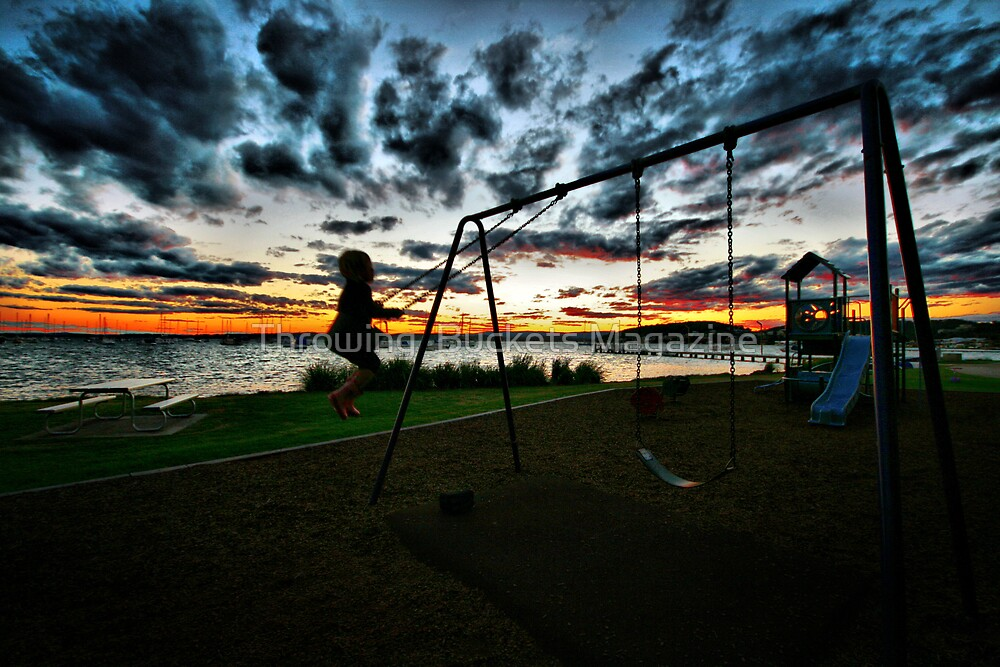 SWINGING SUNSET by Throwing  Buckets Magazine