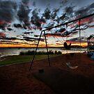 SWINGING SUNSET, BELMONT by Throwing  Buckets Magazine