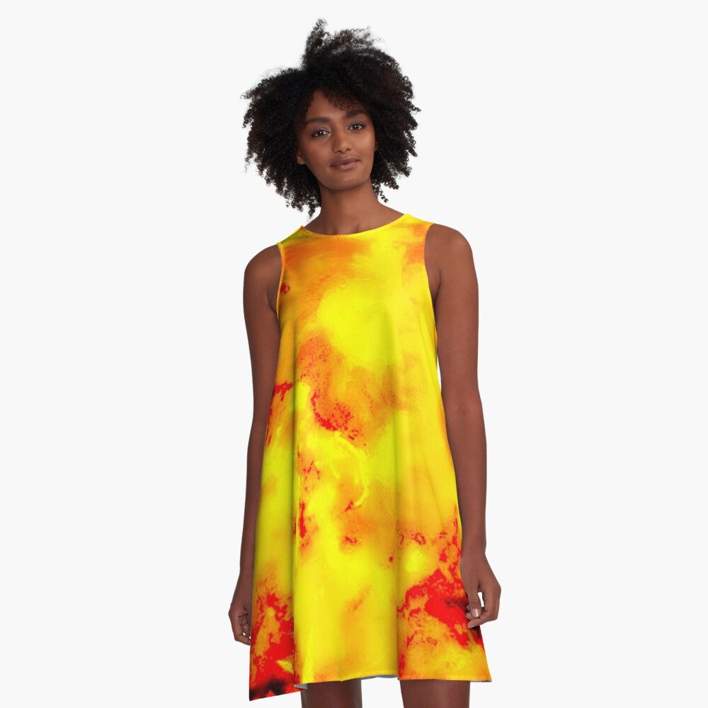 Pila Fashion Design - Fire A-Line Dress Front