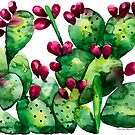 Prickly, Prickly Pear Cactus by LIMEZINNIASDES