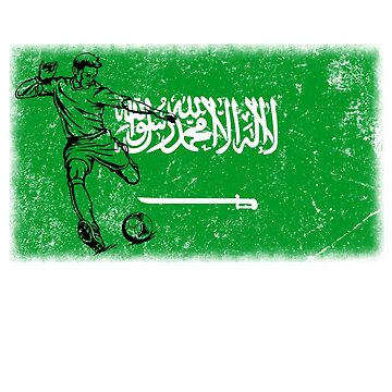 World Cup Russia 2018 Vintage Saudi Arabia Flag Football Soccer by jonawillian