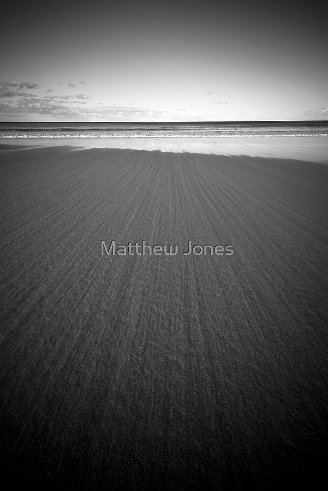 Night Tsunami B&W by Matthew Jones