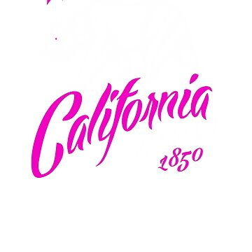 MAD THREDZ, CALIFORNIA BEAR IN PINK by MADthredz