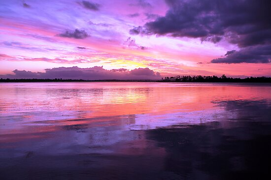 Pulsing Purple Sunset by Martice