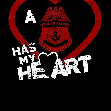 Be My Valentine Border Patrol Has My Heart by shoppzee