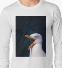 Simple Seagull in Space 1 Long Sleeve T-Shirt