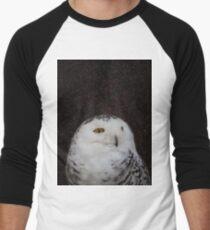 Simple Owl in Space 1 Men's Baseball ¾ T-Shirt