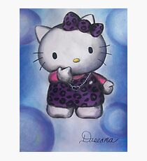 Kitty in Purple Photographic Print