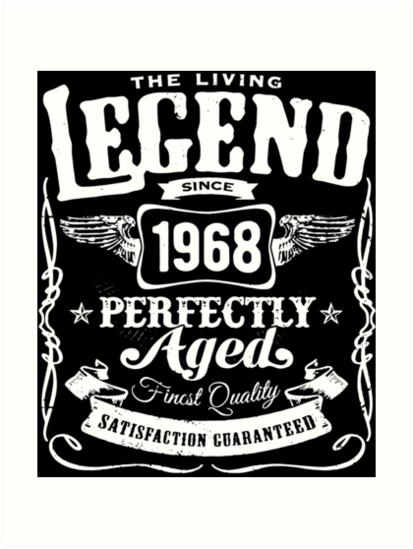 1968 Birthday Gift Vintage The Living Legend 50 Years Old Birthday T