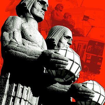 Stone Men Of Helsinki by hoganartgarage