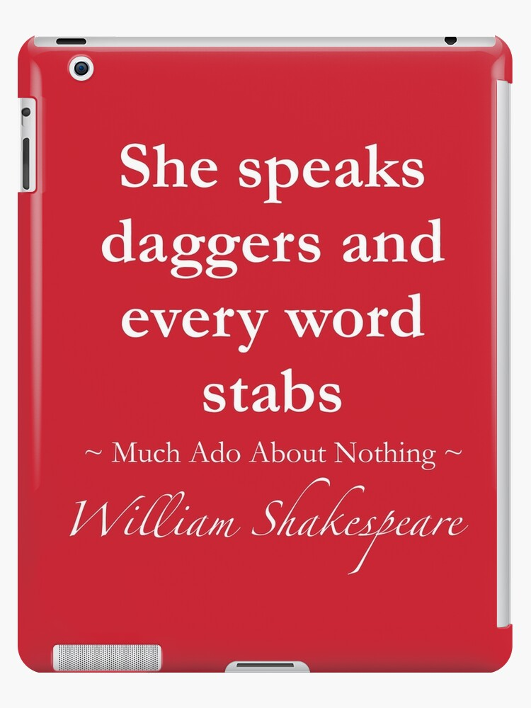 Shakespeare Citation Elle Parle Dagues Et Chaque Mot Poignarde